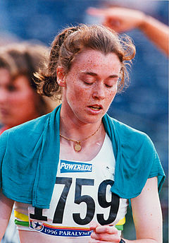 Sharon Rackham at the Atlanta 1996 Paralympic Games.jpg