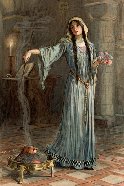 File:She was known to have studied magic while she was being brought up in the nunnery.png