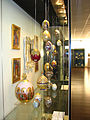 Showcase with porcelain Easter eggs 01.JPG
