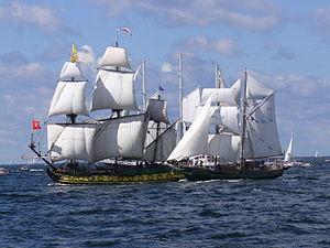 Asgard II - ''Shtandart'' and Asgard II in the Baltic sea