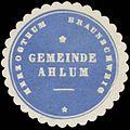 Siegelmarke Gemeinde Ahlum H. Braunschweig W0382792.jpg