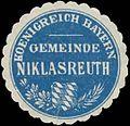 Siegelmarke Gemeinde Niklasreuth K. Bayern W0352281.jpg