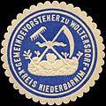 Siegelmarke Gemeindevorsteher zu Woltersdorf - Kreis Niederbarnim W0310944.jpg