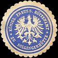 Siegelmarke Königlich Preussische Hüttenamt zu Sollingerhütte W0217599.jpg