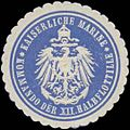 Siegelmarke K. Marine Kommando der XII. Halbflottille W0357591.jpg