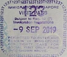 Visa Policy Of Singapore Wikipedia