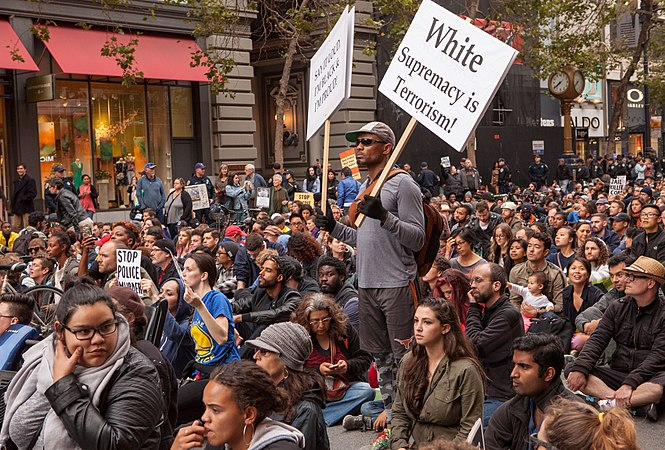 Sit-in during San Francisco July 2016 rally against police violence - 3.jpg