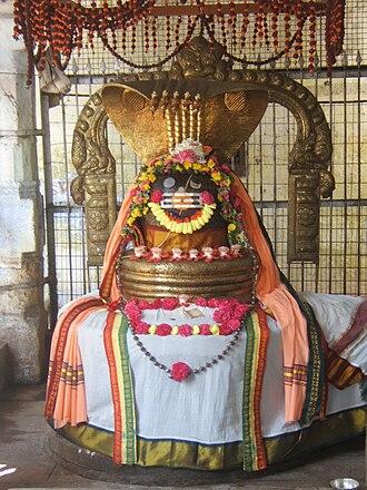 Jambukeswarar Temple, Thiruvanaikaval - A lingam inside the temple