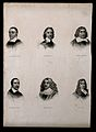 Six portraits of eminent seventeenth century men. Engraving. Wellcome V0006832.jpg