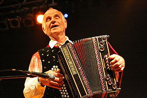 Culture of Slovenia - Folk musician Lojze Slak