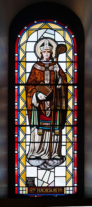 Archbishop Malachy (1094-1148) Sligo Cathedral of the Immaculate Conception Ambulatory Window 07 Malachy 2013 09 14.jpg