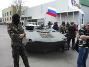 File:Sloviansk - April 16th - Military Vehicle with Russian Flag.webm