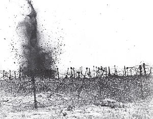 Smashing barbed wire with trench mortar shells.jpg