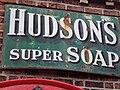 Soap advertisement, Hadlow Road railway station.JPG