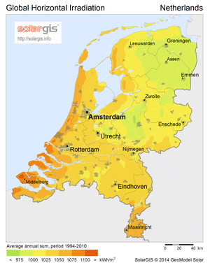 Solar power in the Netherlands - Solar potential