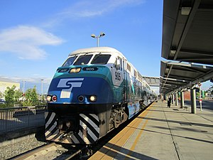 Everett Station - A Sounder commuter train at Everett Station