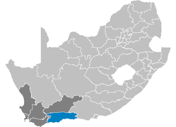 Ligging Eden District Municipality