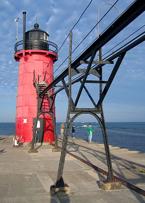 South Haven, Michigan - South Pier lighthouse