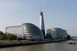 Southwark, More London, City Hall, Shard London Bridge, river Thames