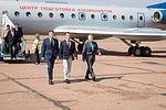 Soyuz MS-02 crew at the airport in Baikonur.jpg