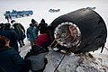 Soyuz TMA-01M spacecraft shortly after the capsule landed.jpg