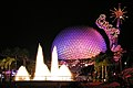Spaceship Earth and the Fountain of Nations at night.jpg