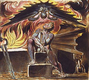 Los (Blake) - Image: Spectre over Los from William Blake's Jeruesalem