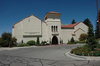Springville Museum of Art - Entrance to the art museum, June 2012