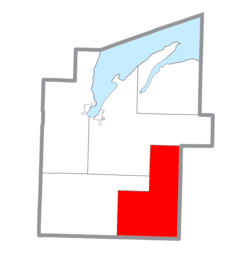 Location within Baraga County