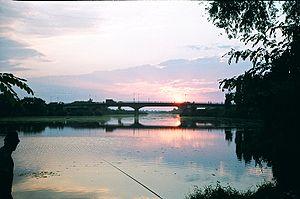 Great Bačka Canal - Bridge across Great Bačka Canal in Srbobran.