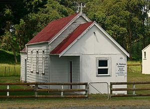 Manawatu District - St. Andrews Combined Church and hall, Bainesse, Manawatu