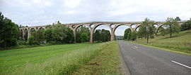 The Chessieux Viaduct in Saint-Georges-de-Baroille
