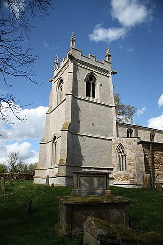 St Mary's Church, Garthorpe - 15th-century west tower, seen from the south