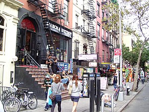 "Jealous (Beyoncé song) - St. Mark's Place (pictured) served as one of the locations where the clip for ""Jealous"" was filmed."