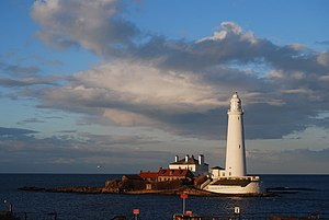 St Mary's Lighthouse bei Flut