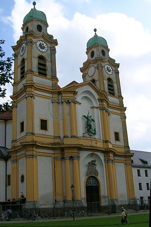 St Michael in Berg am Laim (Munich) - View of the church.