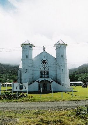 Religion in Fiji - St John's Catholic Church on the Island Of Ovalau.