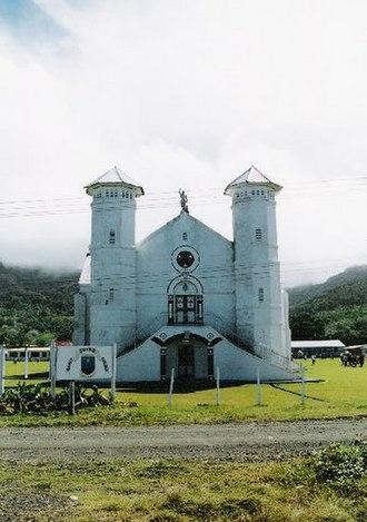 Religion in Fiji - St John's Catholic Church on the Island Of Ovalau.