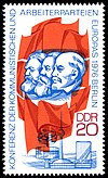 East German stamp commemorating the conference