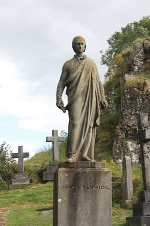 James Renwick (Covenanter) - Statue of James Renwick, Valley Cemetery, Stirling by Alexander Handyside Ritchie