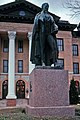 Statue of Mirabeau Lamar in front of the Court House.jpg