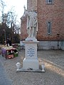 Statue of Saint Emeric of Hungary (1930), 2017 Máriaremete.jpg