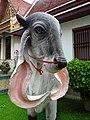 Statue of cattle at Wat Saket.jpg
