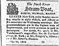 Steamboat ad from the Hudson Bee 1808.jpg