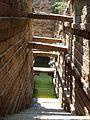 Steps leading to water in the Kalyani in the Someshwara temple complex at Lakshmeshwara.jpg