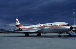 Et Sterling Airways Sud Aviation Caravelle fly