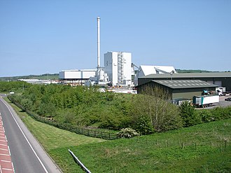 Biomass - Biomass plant in Scotland.