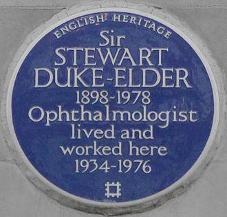 Stewart Duke-Elder - Blue plaque, 63 Harley Street, London