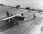Stinson OY-1 aboard USS Petrof Bay (CVE-80) off Peleliu, 19 September 1944 (80-G-378466).jpg