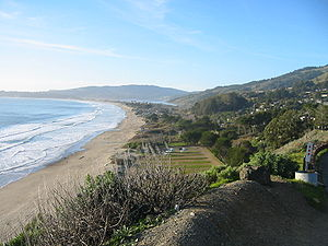 Marin County, California - Stinson Beach is one of the most popular beaches in West Marin